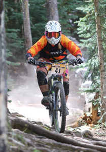 Evie Racette at the Sunrise Enduro